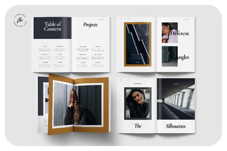 简约摄影作品集排版画册设计INDD模板素材 Femesso Photography Portfolio插图1