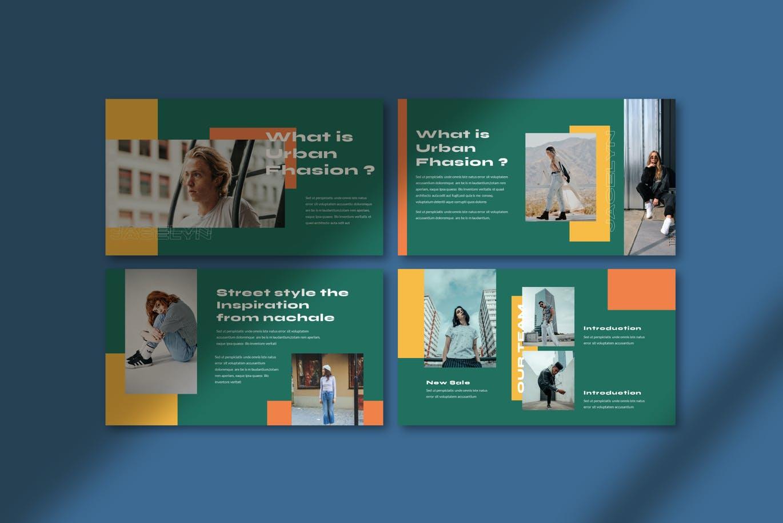 简约摄影作品集设计演示文稿模板 Jacelyn Powerpoint Template插图2