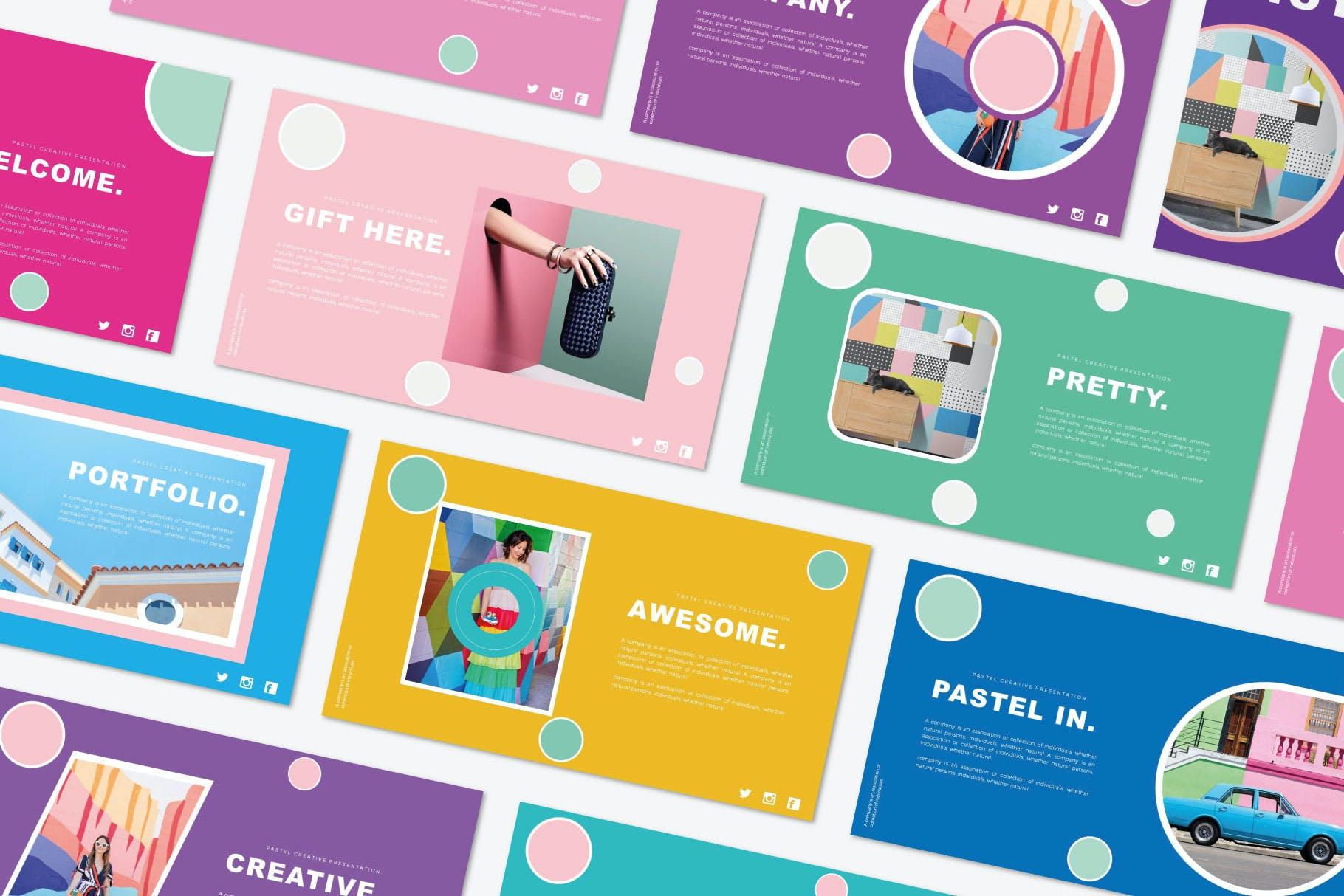 时尚极简产品营销演示文稿设计模板素材 Misya – Powerpoint Template插图1