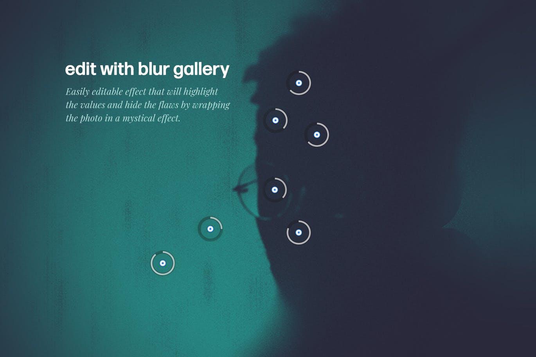 神秘模糊烟雾效果照片处理特效PS样式模板素材 Mystery Photoshop Effect插图5