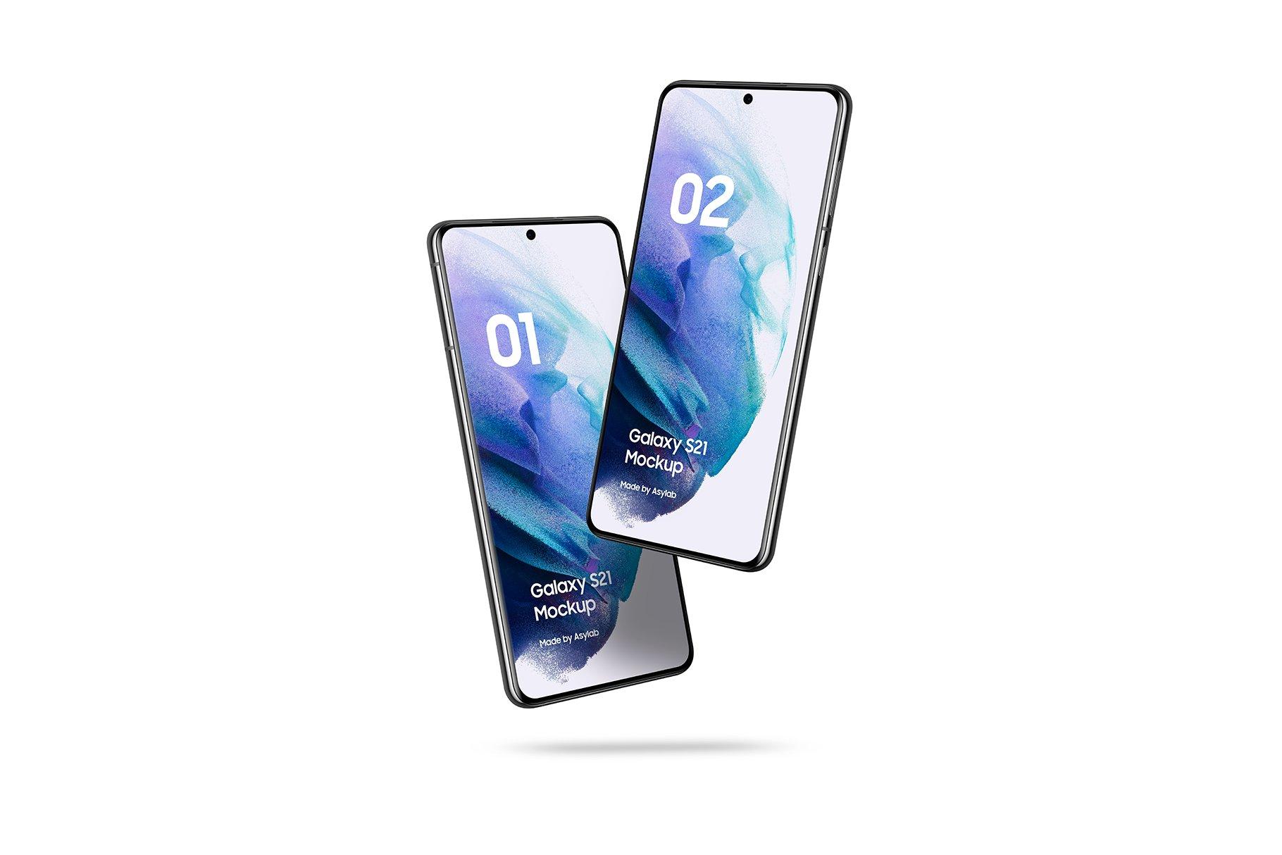 [单独购买] 20款三星Galaxy S21手机网站APP界面设计演示样机模板套件 Galaxy S21 – 20 Mockups Scenes插图25
