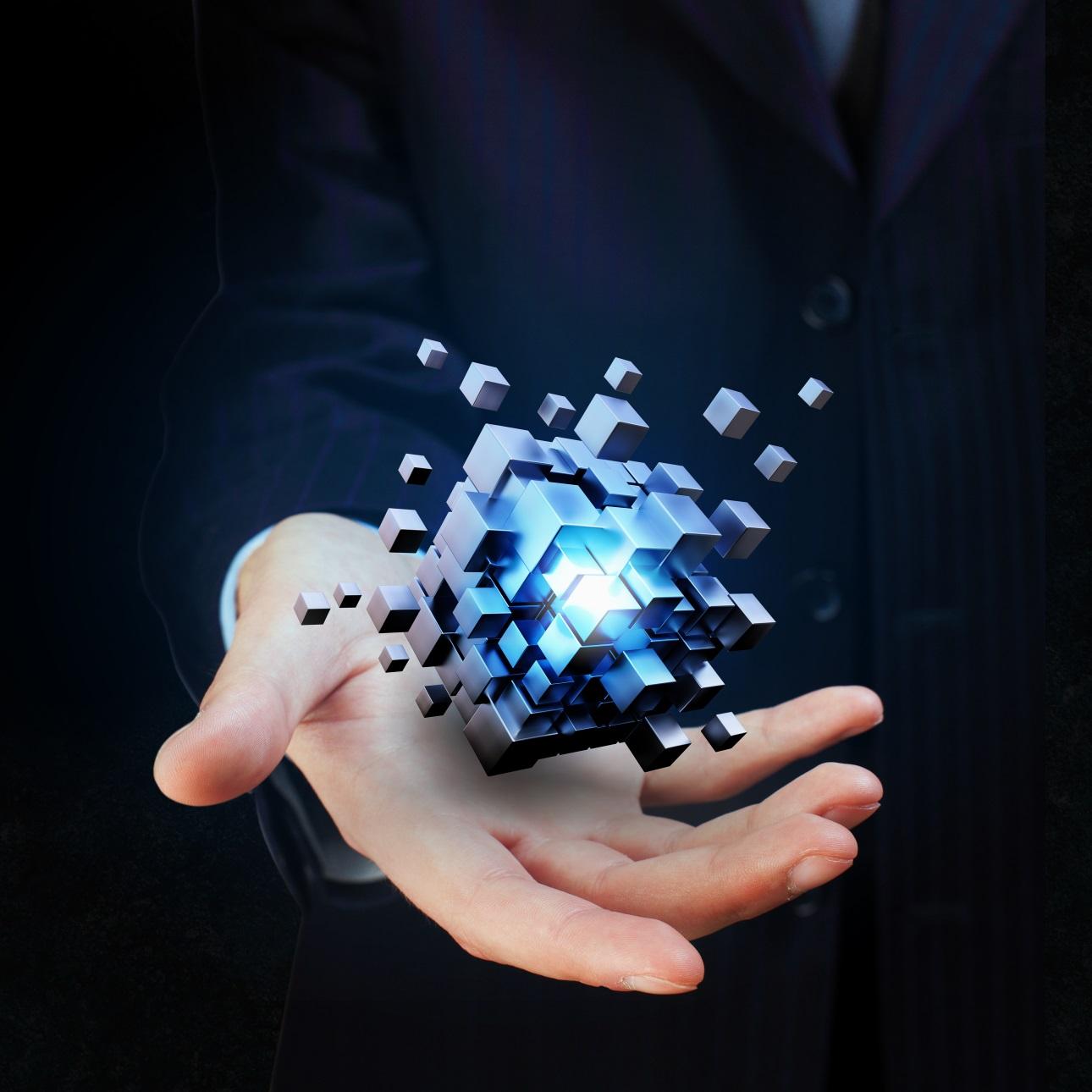 20款立方体方块魔方商务海报设计JPG图片素材 Cube Poster Image插图1