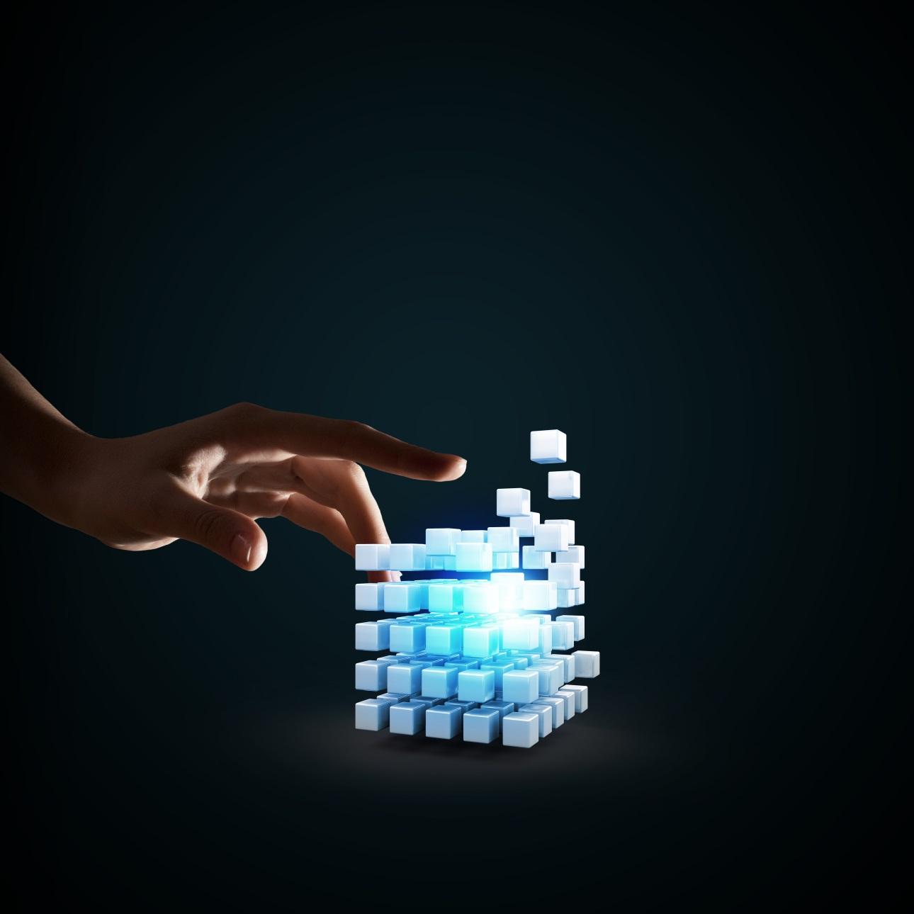 20款立方体方块魔方商务海报设计JPG图片素材 Cube Poster Image插图4
