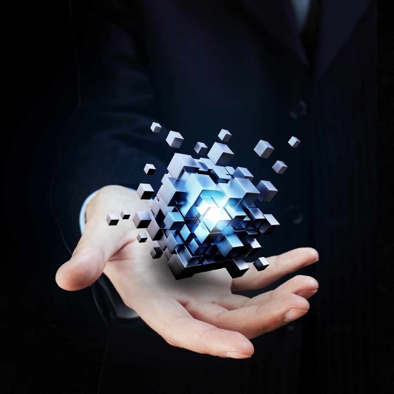 20款立方体方块魔方商务海报设计JPG图片素材 Cube Poster Image插图6