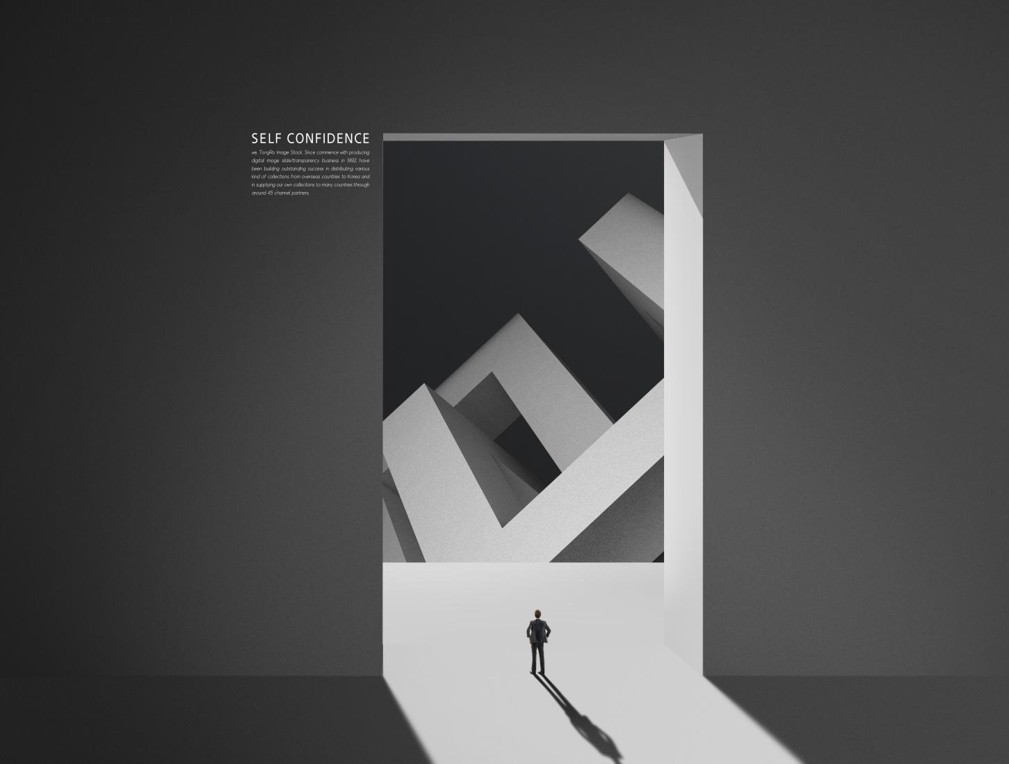 [单独购买] 12款创意黑白几何虚拟空间企业文化宣传主视觉海报设计PS素材模板 Virtual Space Sale Poster Template插图3