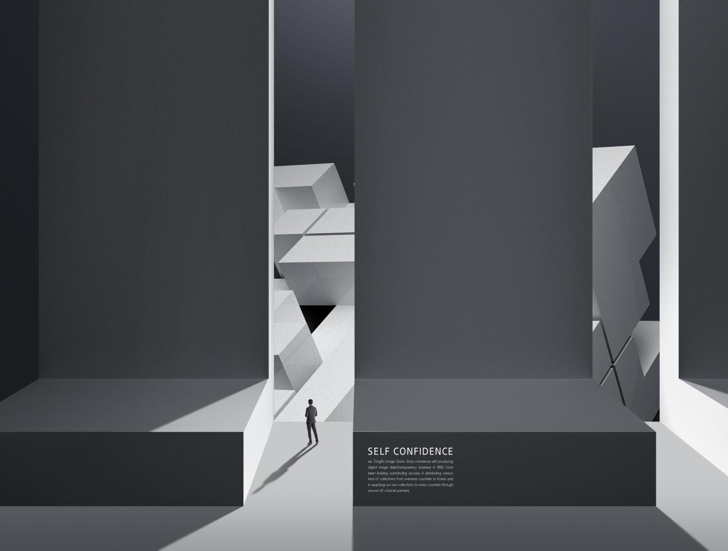 [单独购买] 12款创意黑白几何虚拟空间企业文化宣传主视觉海报设计PS素材模板 Virtual Space Sale Poster Template插图6