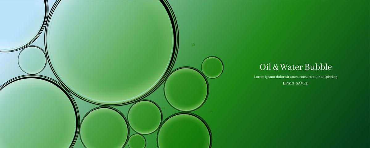 14款油脂液体水滴气泡海报设计AI矢量素材 Water Drop Bubble Vector Material插图11