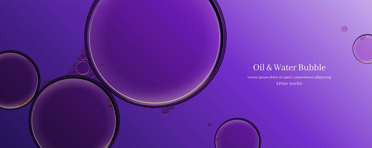 14款油脂液体水滴气泡海报设计AI矢量素材 Water Drop Bubble Vector Material插图9