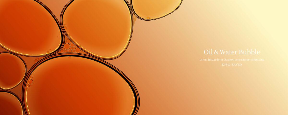 14款油脂液体水滴气泡海报设计AI矢量素材 Water Drop Bubble Vector Material插图12