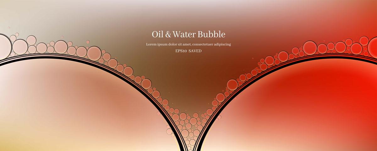 14款油脂液体水滴气泡海报设计AI矢量素材 Water Drop Bubble Vector Material插图13