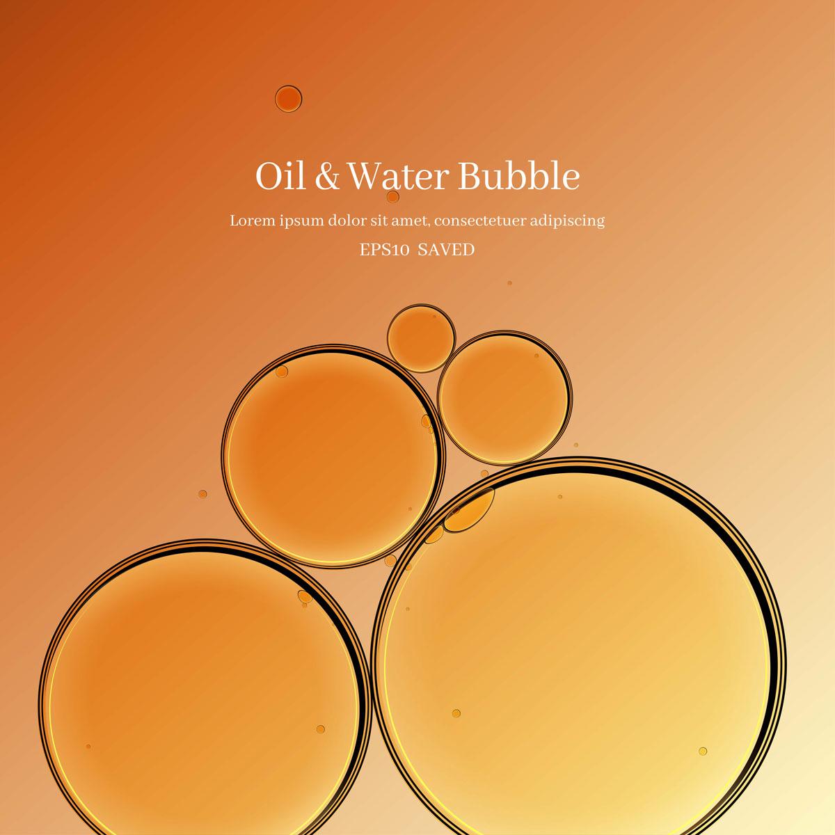 14款油脂液体水滴气泡海报设计AI矢量素材 Water Drop Bubble Vector Material插图1