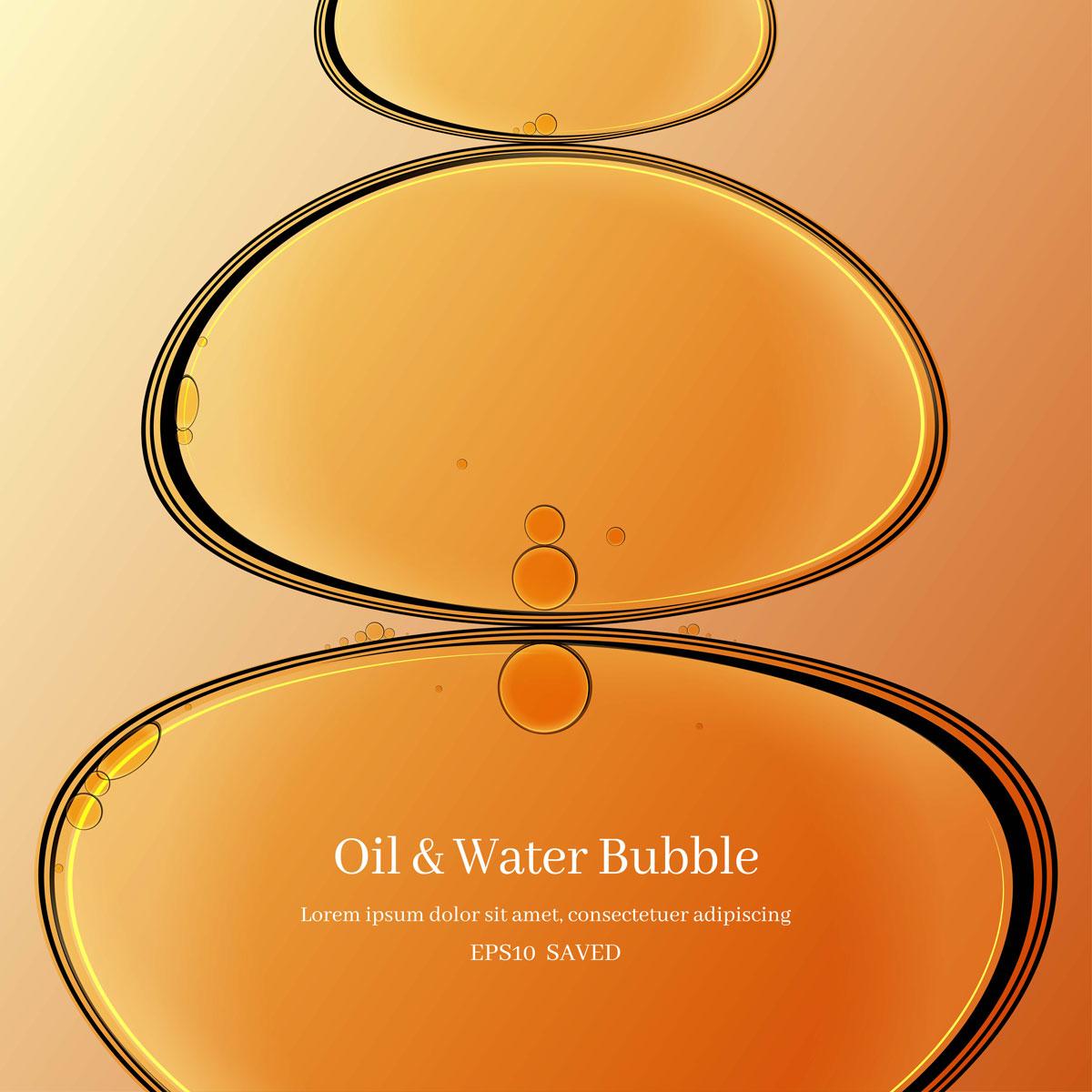 14款油脂液体水滴气泡海报设计AI矢量素材 Water Drop Bubble Vector Material插图5