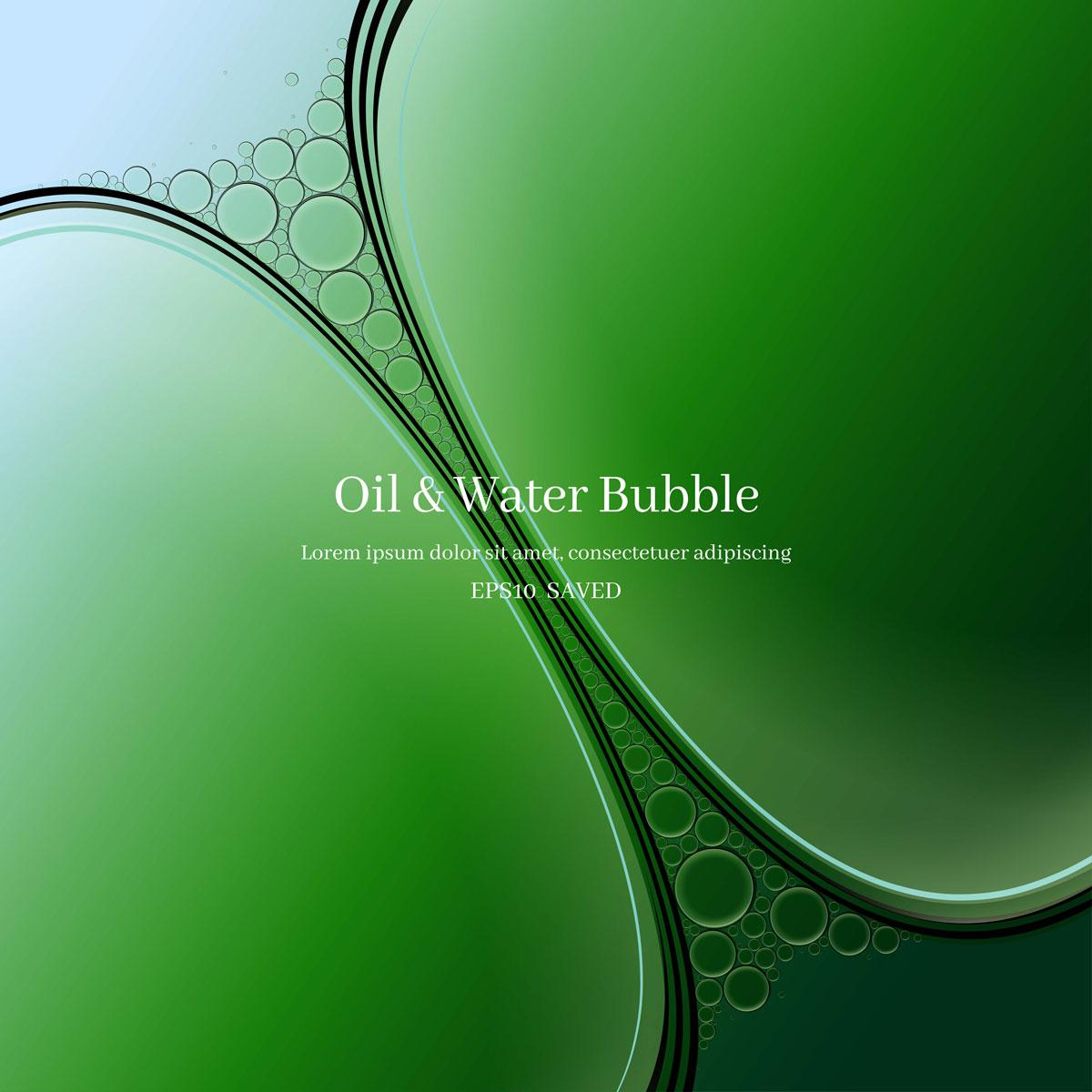 14款油脂液体水滴气泡海报设计AI矢量素材 Water Drop Bubble Vector Material插图6