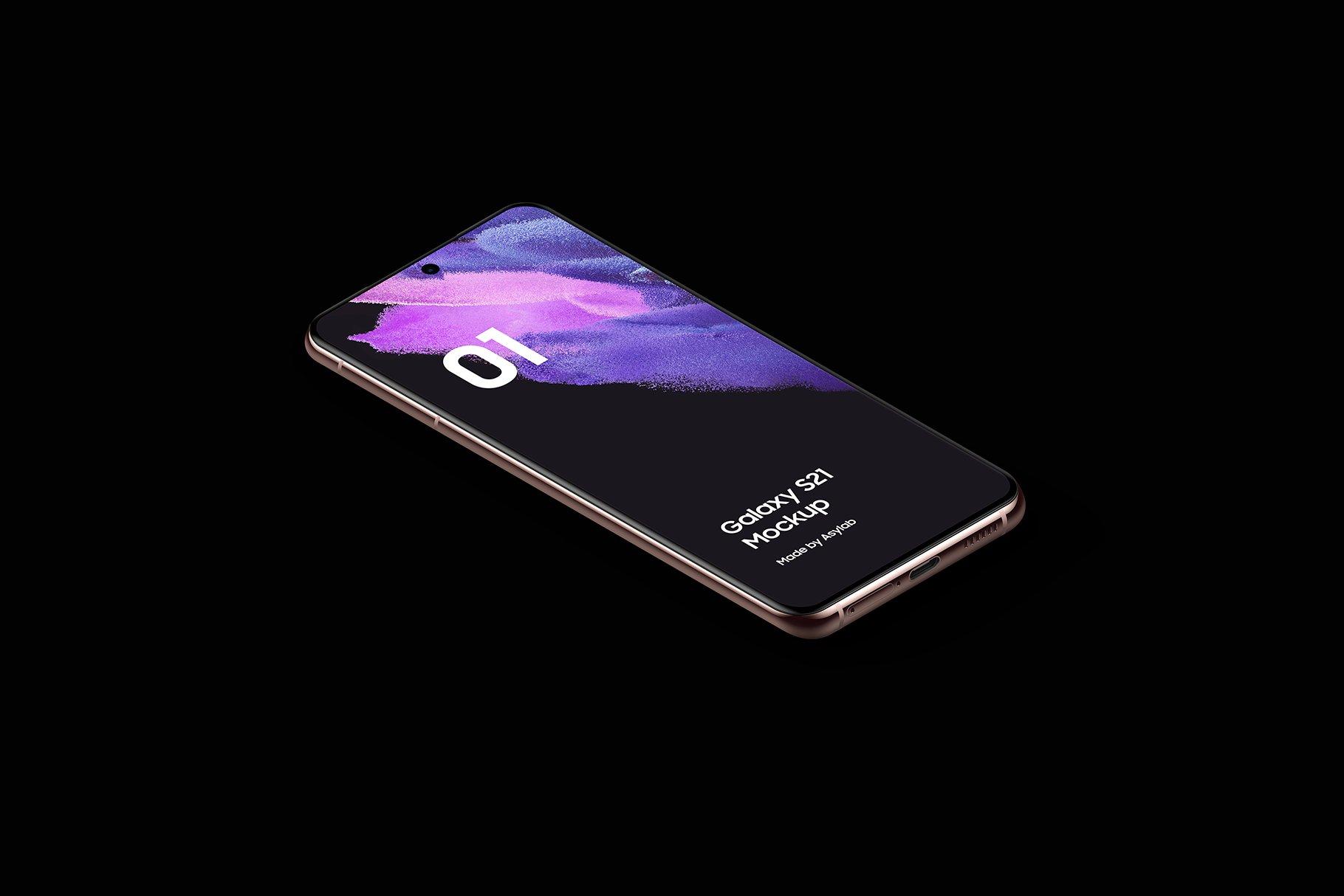 [单独购买] 20款三星Galaxy S21手机网站APP界面设计演示样机模板套件 Galaxy S21 – 20 Mockups Scenes插图29