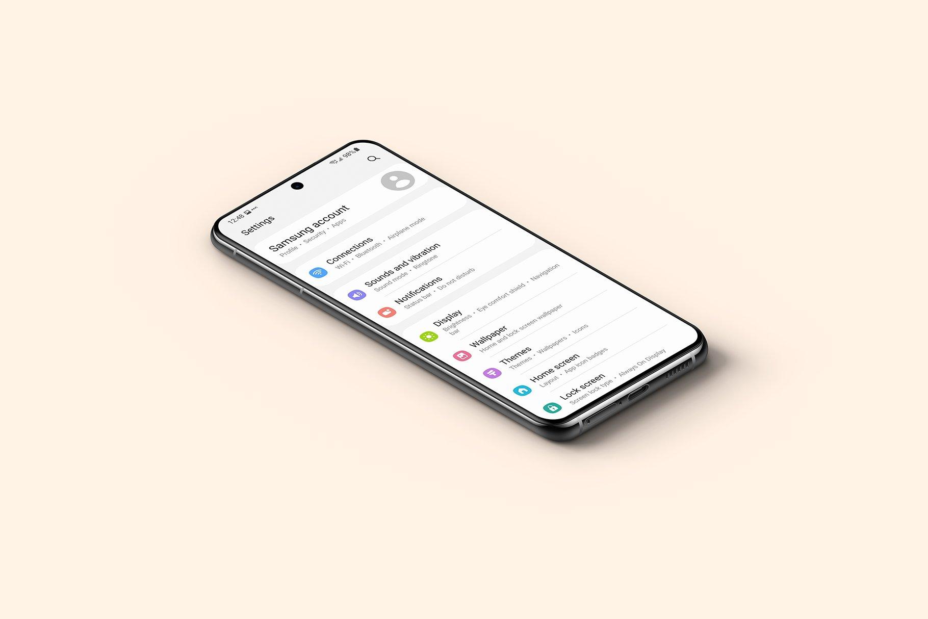 [单独购买] 20款三星Galaxy S21手机网站APP界面设计演示样机模板套件 Galaxy S21 – 20 Mockups Scenes插图31