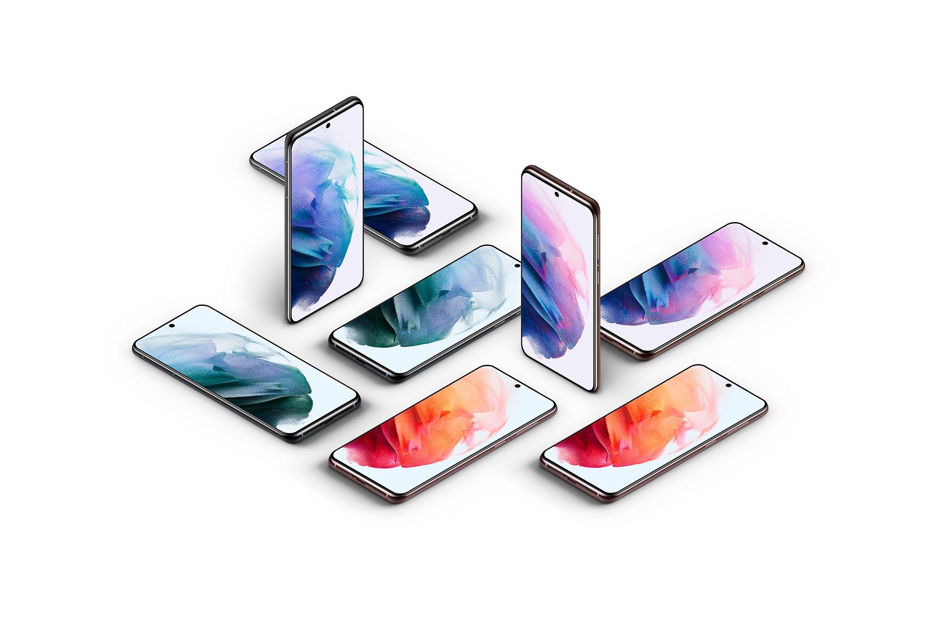[单独购买] 20款三星Galaxy S21手机网站APP界面设计演示样机模板套件 Galaxy S21 – 20 Mockups Scenes插图32
