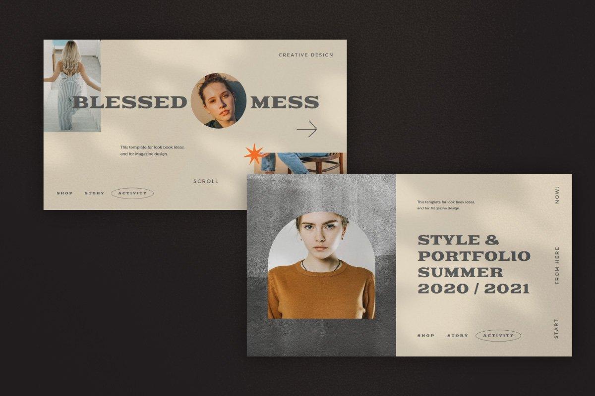 时尚创意服装潮牌品牌提案简报演示文稿设计模板 Start – Creative Agency Powerpoint插图2
