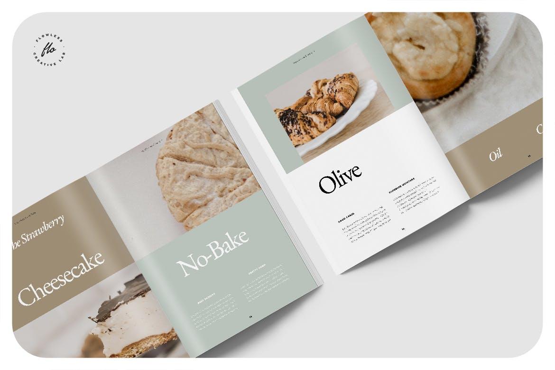 24页食品美食食谱画册排版设计INDD模板素材 Piebble Food Recipe Cookbook插图2