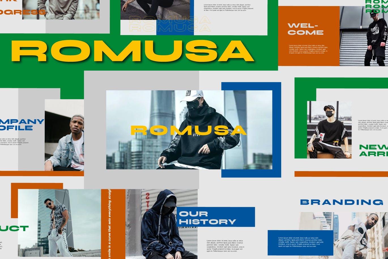 简约人像风景摄影作品集排版设计演示文稿模板 Romusa Powerpoint Template插图2
