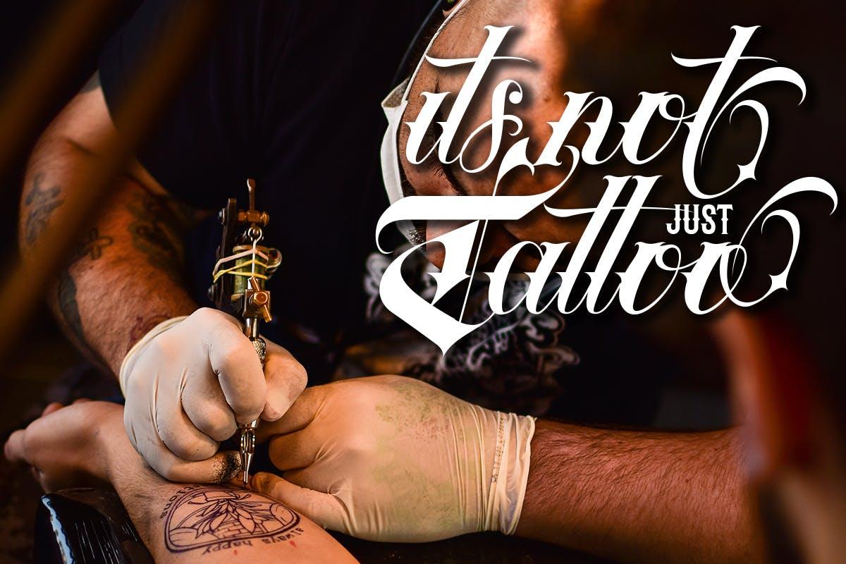 复古部落风品牌海报纹身图案设计装饰英文字体素材 Tribal Font插图3