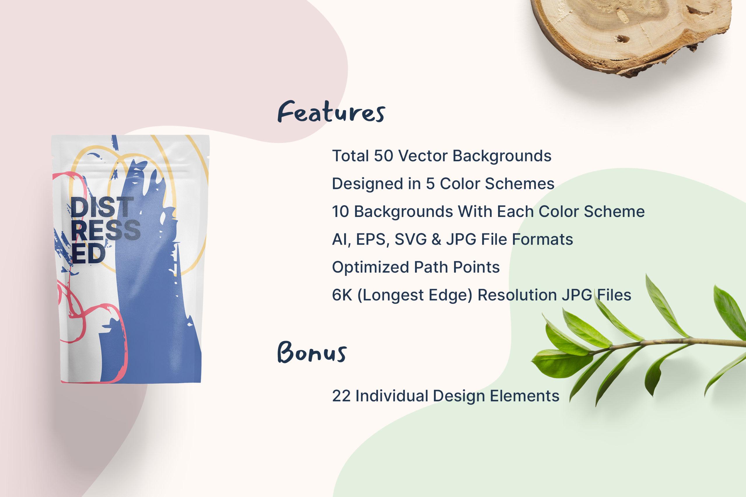 粗糙水墨毛笔笔触纹理海报设计背景图片矢量设计素材 Distressed Vector Backgrounds插图2
