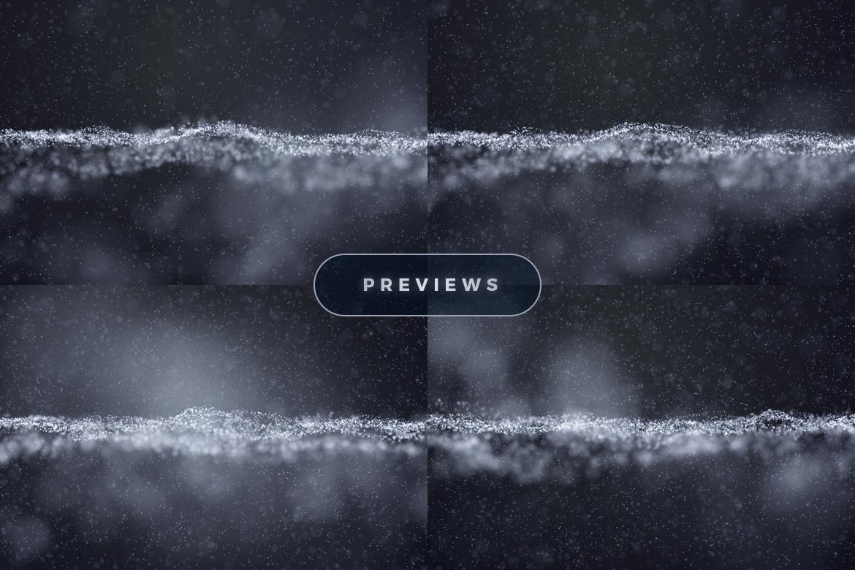 11个抽象白色粒子纹理海报设计背景底纹图片素材 Abstract White Particles Background插图2