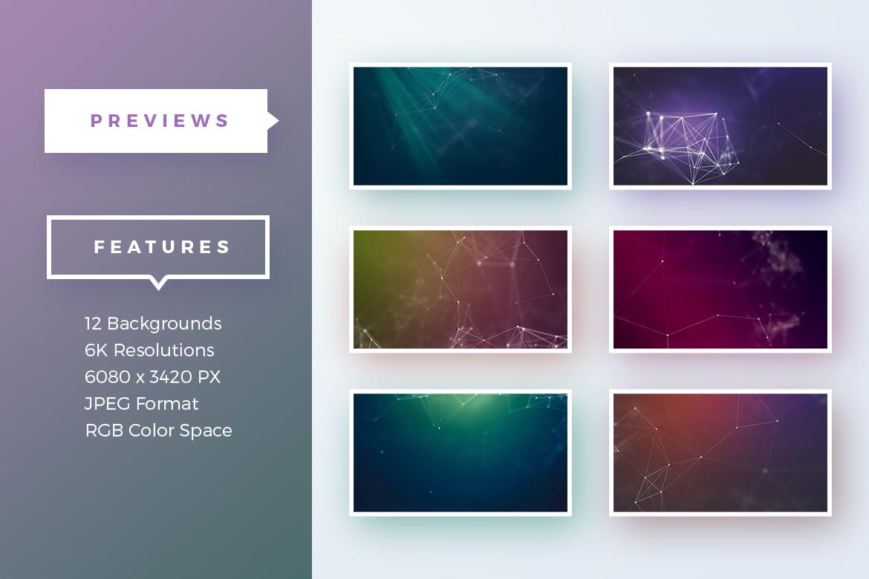 12个未来科技网格线条纹理背景图片素材 Abstract Network Backgrounds插图2