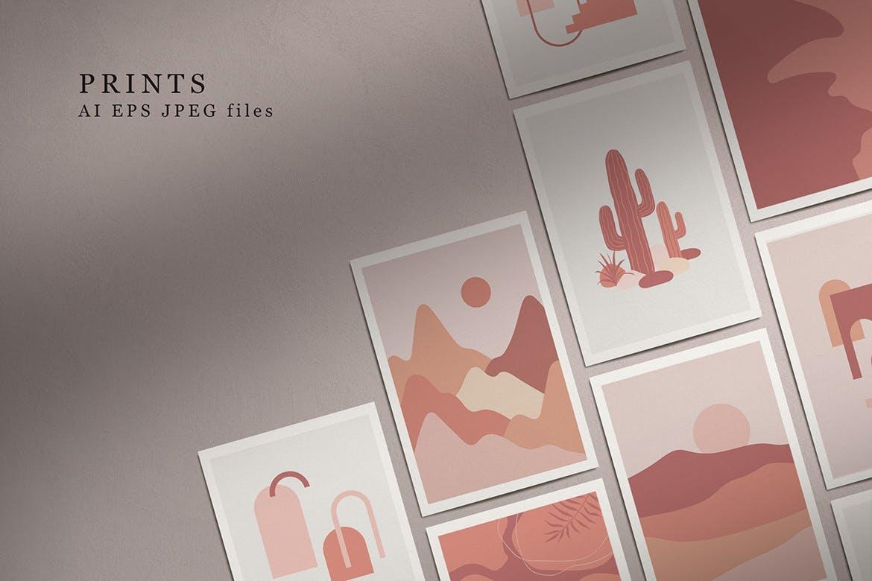 [单独购买] 150个抽象山丘建筑几何图案矢量设计素材 DUNE Abstractions & Prints插图2