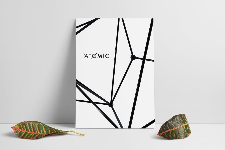 30款抽象科幻金属原子海报设计背景图片素材 Atomic – 30 Abstract Design Pack插图3