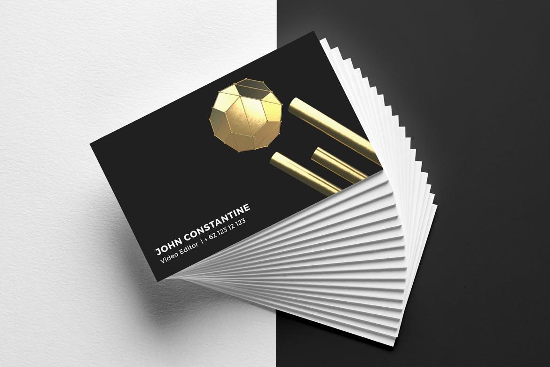 35款抽象金色3D几何图形背景图片PS设计素材 3D Golden Shapes Volume 1插图2