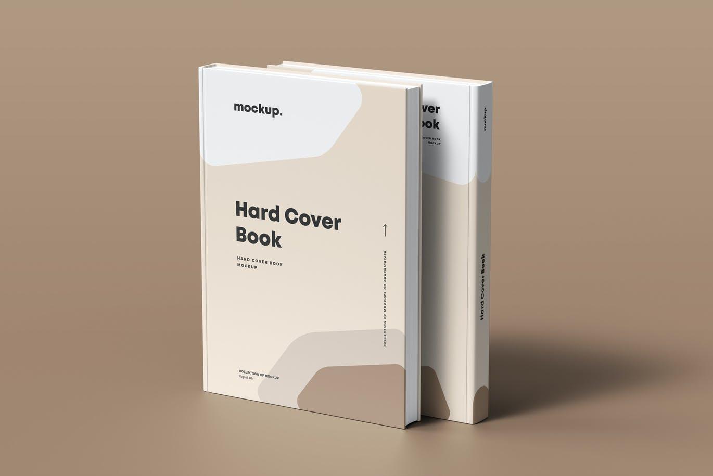 8款精装书封面设计展示贴图样机模板素材 Hard Cover Book Mock-up插图10