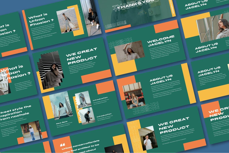 简约摄影作品集设计演示文稿模板 Jacelyn Powerpoint Template插图3