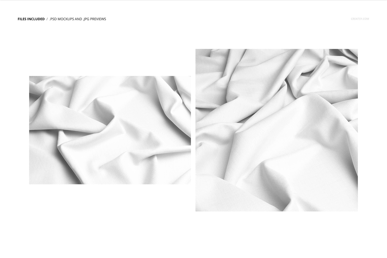 时尚棉料布印花图案设计展示样机合集 Cotton Closeup Mockup Set插图2