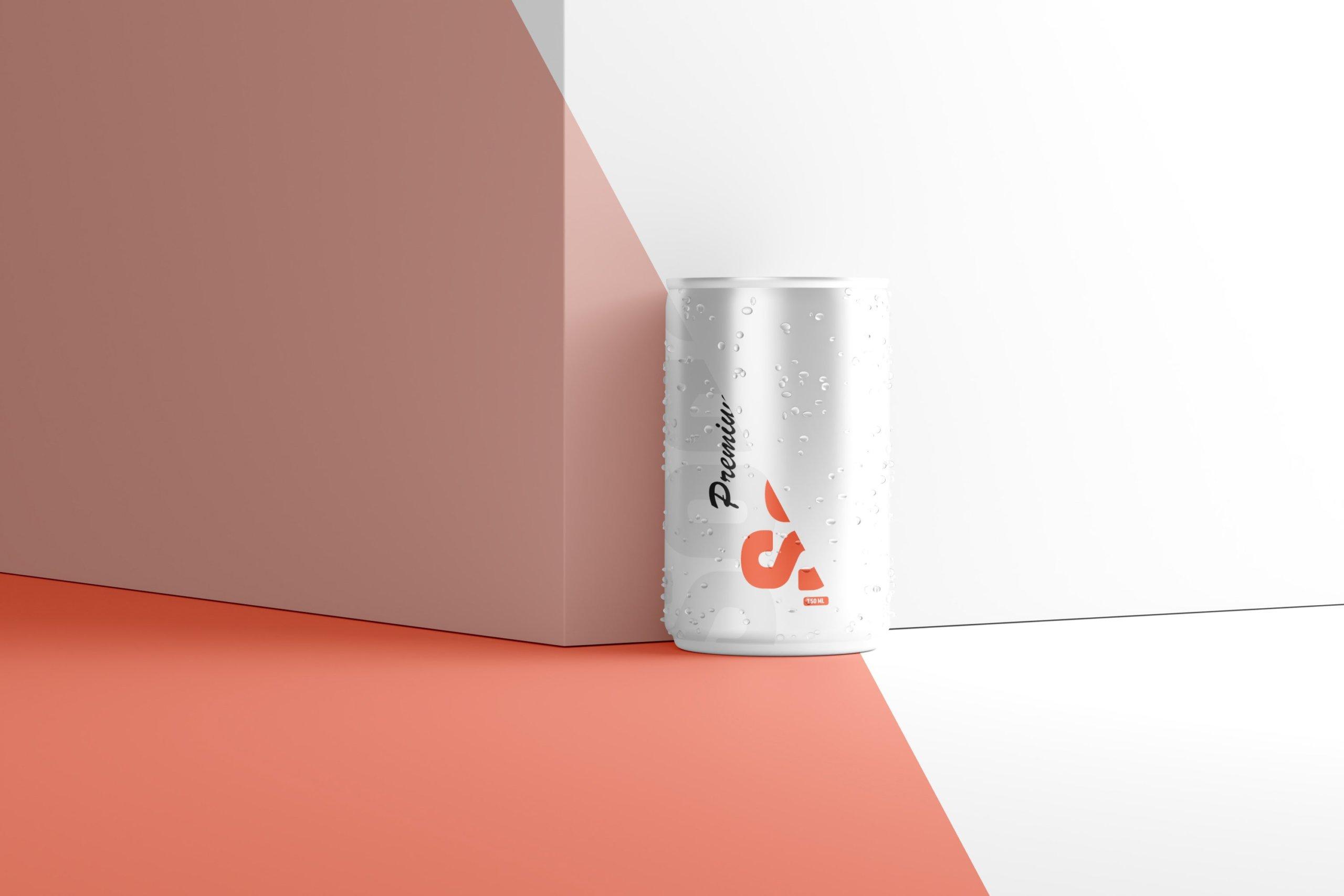 10款150毫升苏打汽水锡罐易拉罐设计展示样机 150ml Soda Can Mockup插图1