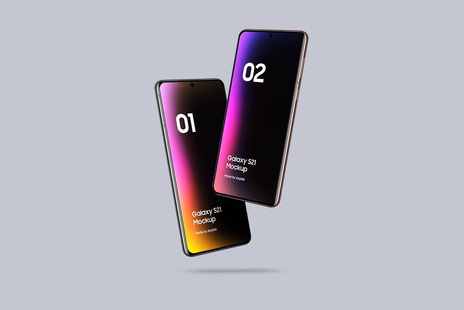 [单独购买] 20款三星Galaxy S21手机网站APP界面设计演示样机模板套件 Galaxy S21 – 20 Mockups Scenes插图37