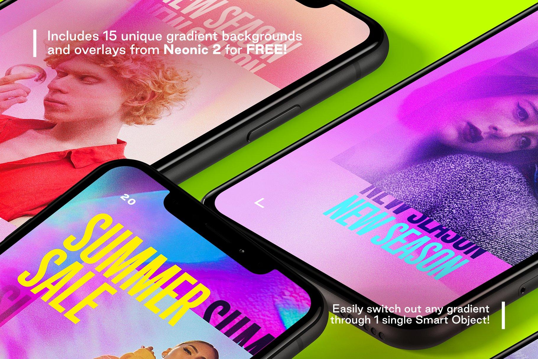 [单独购买] 潮流霓虹效果品牌推广新媒体电商海报设计模板PS素材 Neogram – Neon Instagram Stories插图3