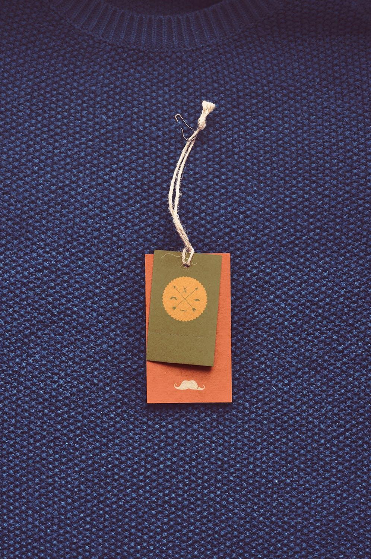复古老式服装标签标牌设计展示贴图样机 Vintage Label Mock-ups插图3