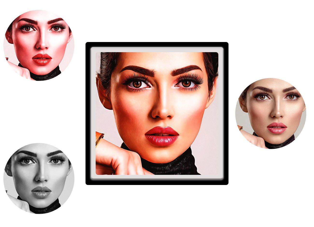 逼真油画效果照片处理特效PS动作模板素材 Pro Oil Art Photoshop Action插图4