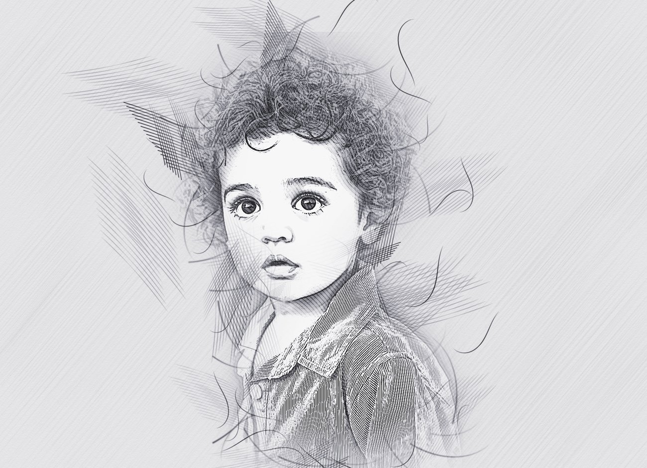 铅笔手绘素描效果照片处理特效PS动作模板 Hand Drawing Sketch Photoshop Action插图4