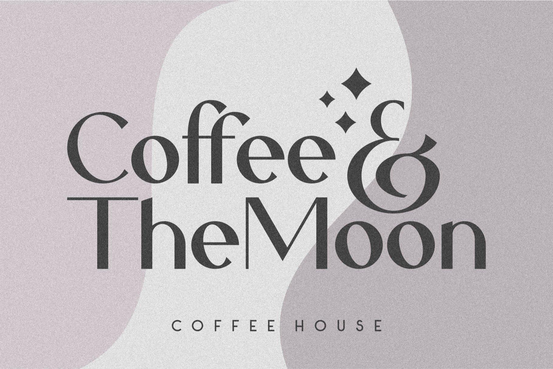 优雅轻奢现代时尚Logo杂志海报标题衬线英文字体素材 Caligna Typeface插图3