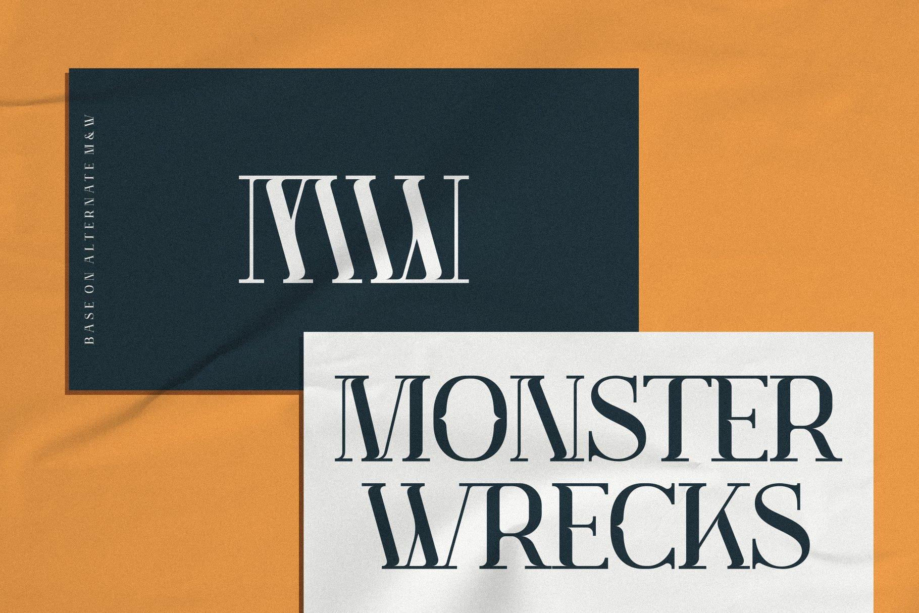 优雅轻奢现代时尚Logo杂志海报标题衬线英文字体素材 Muve Serif Font插图3