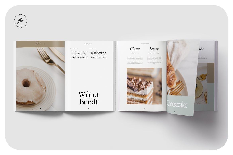 24页食品美食食谱画册排版设计INDD模板素材 Piebble Food Recipe Cookbook插图3