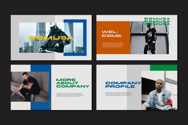 简约人像风景摄影作品集排版设计演示文稿模板 Romusa Powerpoint Template插图3