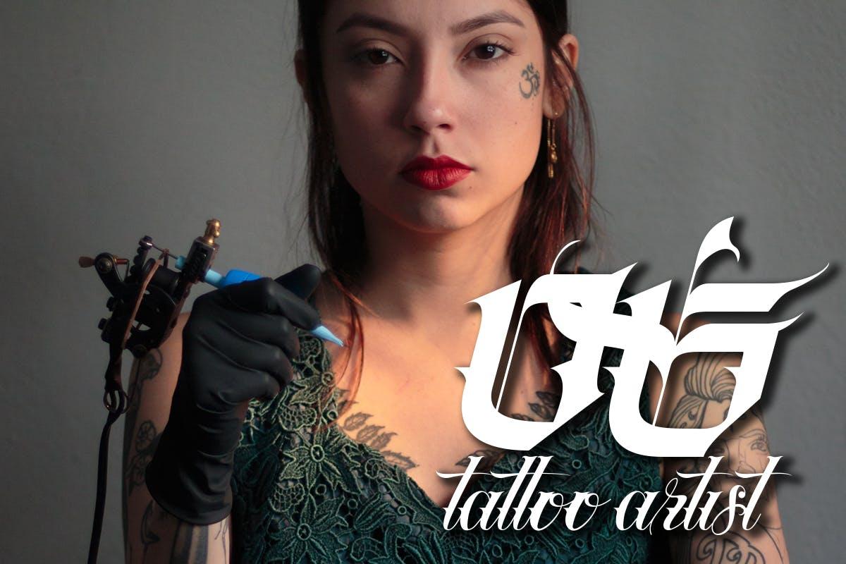 复古部落风品牌海报纹身图案设计装饰英文字体素材 Tribal Font插图2