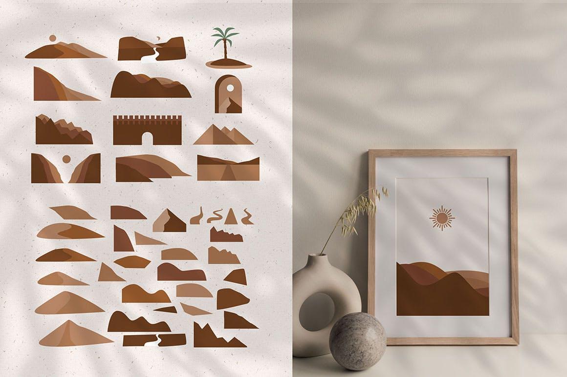 160多款现代抽象女性插图几何图案矢量设计素材 Modern Abstract Illustrations插图3