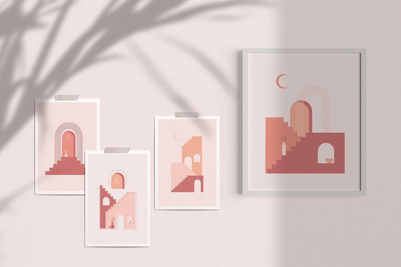 [单独购买] 150个抽象山丘建筑几何图案矢量设计素材 DUNE Abstractions & Prints插图3