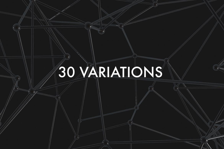 30款抽象科幻金属原子海报设计背景图片素材 Atomic – 30 Abstract Design Pack插图2