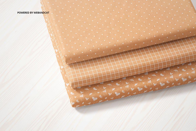 折叠织物面料布料印花图案设计展示样机 Cotton Fabric Mockup 01插图3