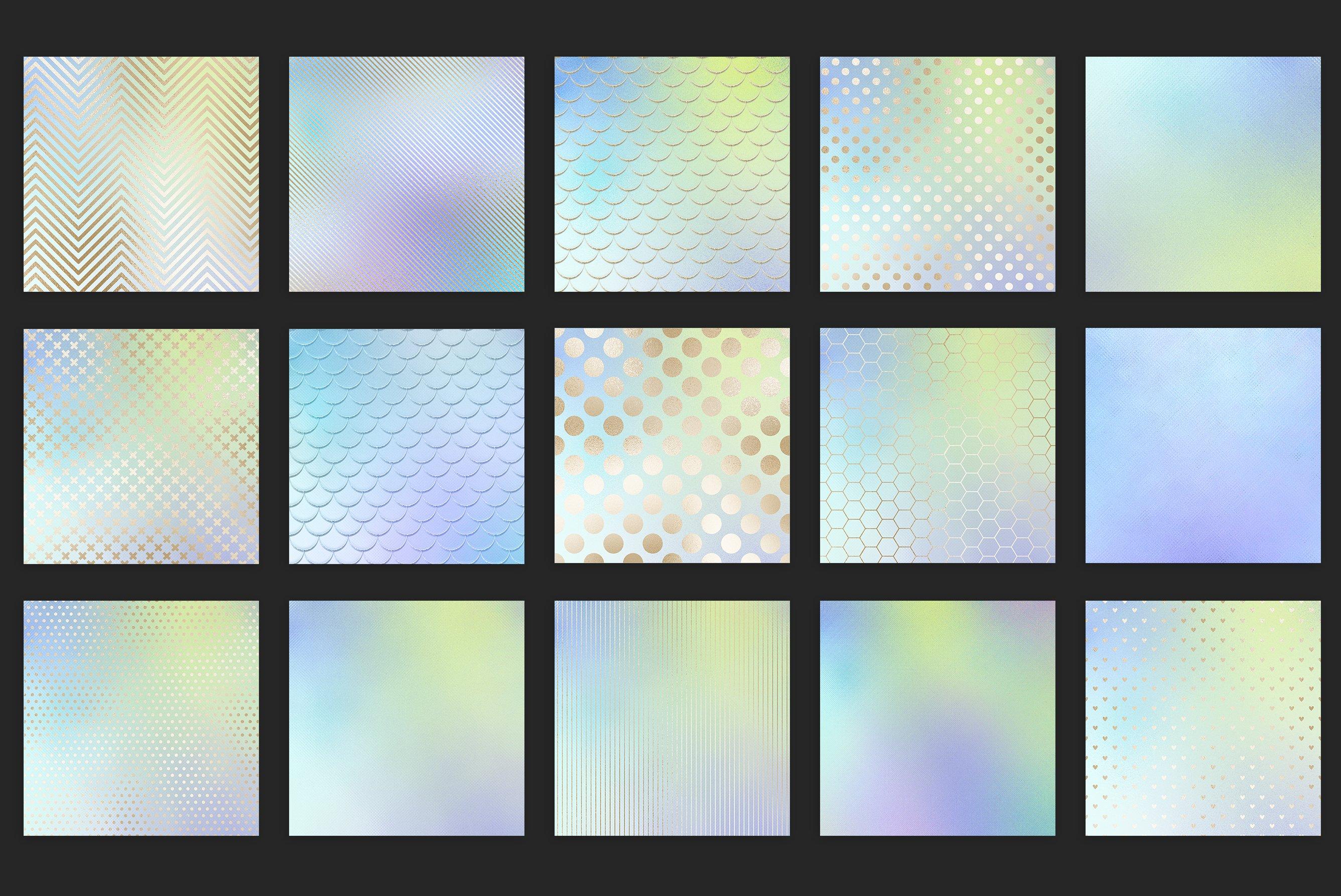 20款虹彩金色纹理海报设计背景图片素材 Iridescent Gold Textures插图3