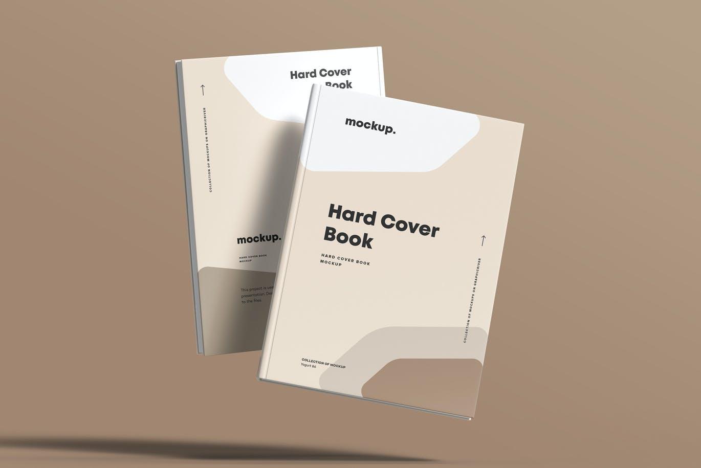 8款精装书封面设计展示贴图样机模板素材 Hard Cover Book Mock-up插图11